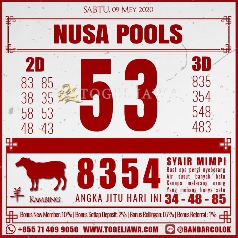 Prediksi NusaPool Tanggal 2020-05-09